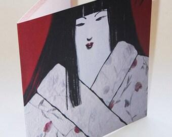 JAPAN13 greeting card