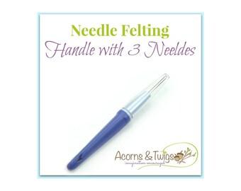 Needle Felting Tool, 3 Felting Needle Holder, Needle Felting Handle, Dry Felting Tool