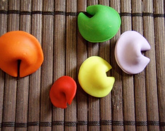 Miniature Polymer Clay Fortune Cookies - Made to Order