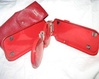Vintage Red Leather Stratolite Road Flares Classy and Sophisticated  For Your Red 1960's Sports Car