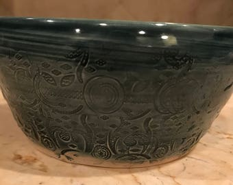 Cereal dark blue bowl