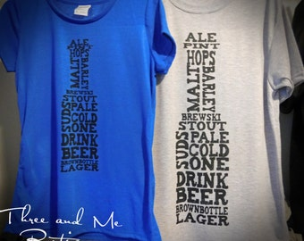 Beer Collage T-Shirt; Men and Women Beer Drinker T-Shirt