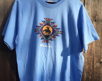 End of the Trail Tee - Vintage Graphic Tshirt - 80s 90s southwestern shirt - Navajo T-Shirt