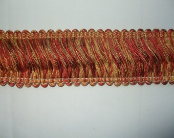 Rust & Gold Brush Looped Fringe