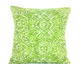 OUTDOOR Green Throw Pillow COVER Decorative Throw Cushion Pillow for Couch Sofa All SIZES Lime Green Cottage Patio Outdoor Pillow Porch