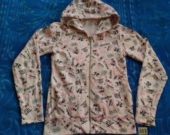 Vintage DISNEY MICKEY & MINNIE Fully Zipper Hooded Sweatshirt  For Ladies