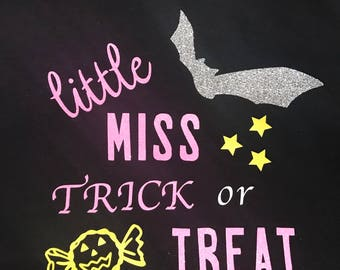 Little miss trick or treat shirt