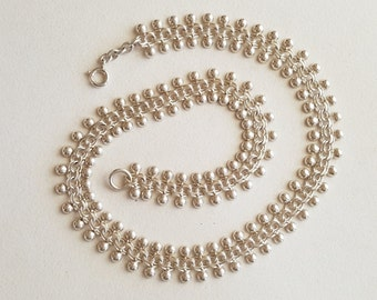 Hermann Siersbøl, Classic Sterling Silver Bismark Variation Necklace, Denmark, 1960s (F1262B)