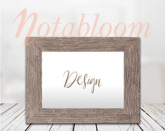 Weathered & White Wood Frame Mock-Up / Stock Photo / Art Stock Image / Interior Room / Close-Up /Photography