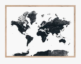 New zealand map new zealand poster printable art printable world map wall art world map printable digital world map download world map black and white print minimalist art ink map illustration gumiabroncs Gallery
