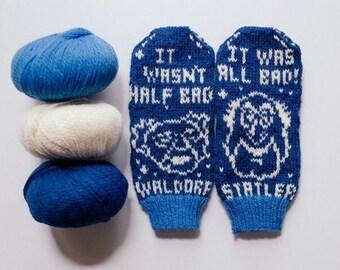 Pattern: Waldorf and Statler Muppet Knit Mittens