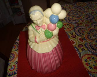 Vintage Pottery Guild Balloon Lady Cookie Jar