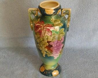 Wine Inspired Vase Hand Painted