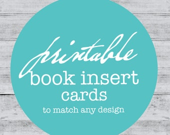 Book Insert Bring a Book Card to match Baby Shower Book Card In lieu of gift card PRINTABLE DIGITAL FILE