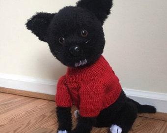 Chihuahua dog crochet pattern PDF + free crochet sweater pattern, English USA.