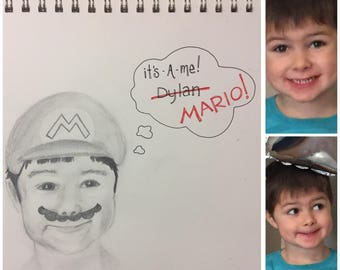 Pencil portraits from picture - Handmade Gifts - Custom portraits