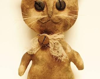 Primitive Cat Doll, Calico Cats, Country Farmhouse Decor, Primitive Animals