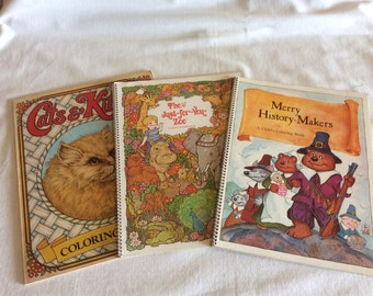 Vintage 1970s, 1980s Coloring Books
