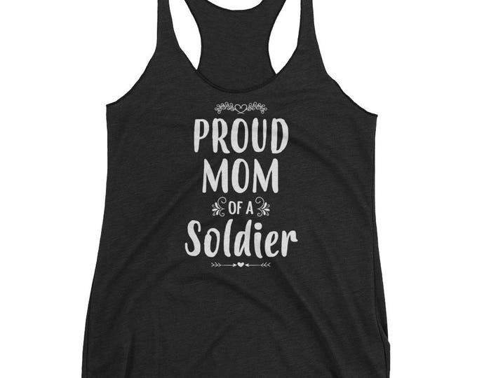Women's Proud Mom of a Soldier tank top - Gift for mother of Soldier