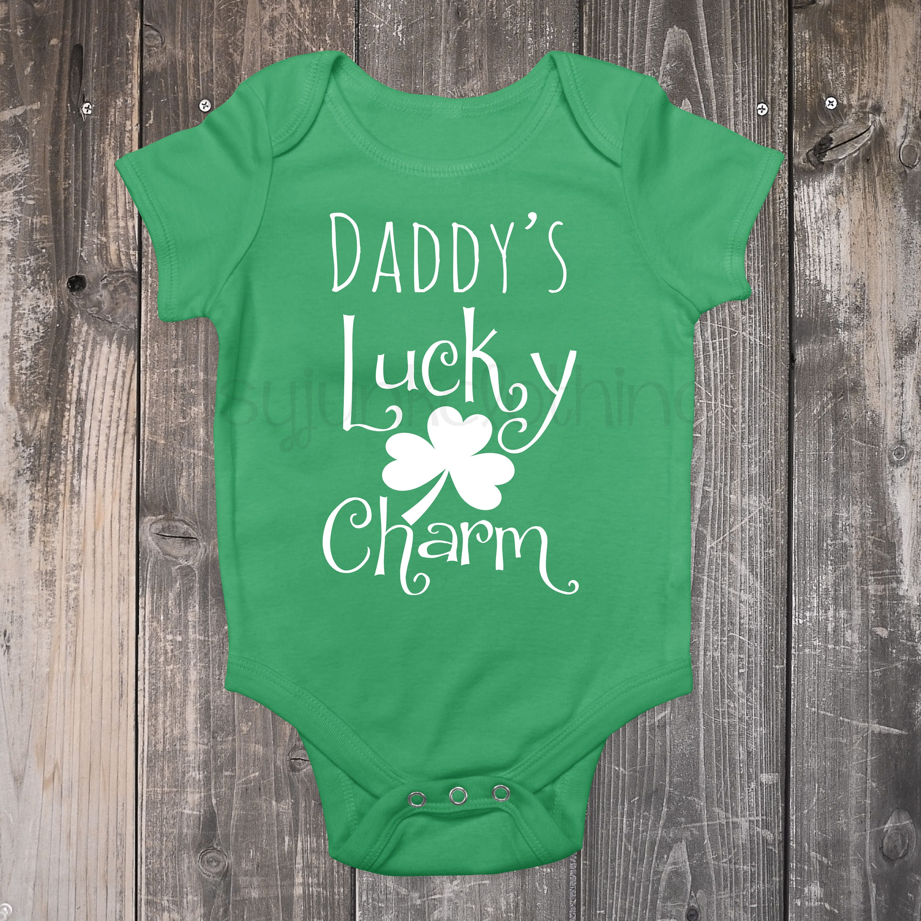 First St Patrick s Day Daddy s Lucky Charm Baby Girl Clothes Baby