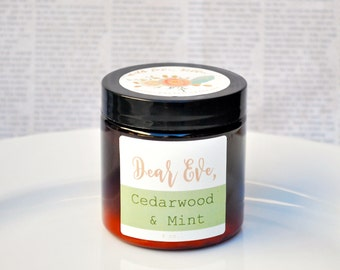 CEDARWOOD MINT | Organic Hand Cream | Shea Butter Lotion | Organic Moisturizer | Mother's Day Gift | Gift for Her | Gift for Mom | Vegan