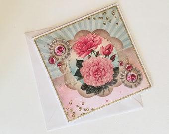 Handmade card: circus arts