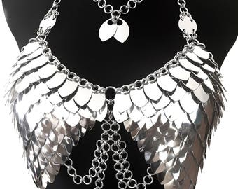 Dress 'Wings with Chain' - Cool FASHIONSTYLE in metal