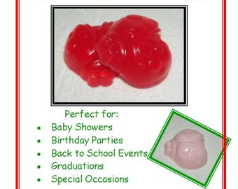 Pink and Red Lady Bug Glycerin Soap, Cute As A Bug Favor, Baby Shower Favor, Lady Bug Soap Set, Lady Bug Favor, Spring Bug Favor, Spring