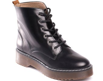 Vegan Shoes Ethical and Eco-Friendly Woman Boots - TRINA BLACK