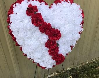 Cemetery Silk Heart