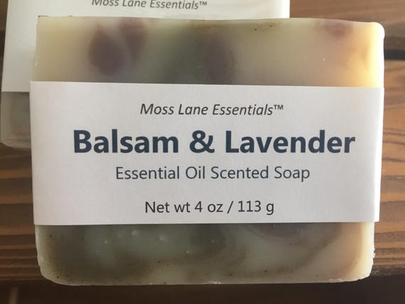 Balsam and Lavender Essential Oil Scented Cold Process Soap