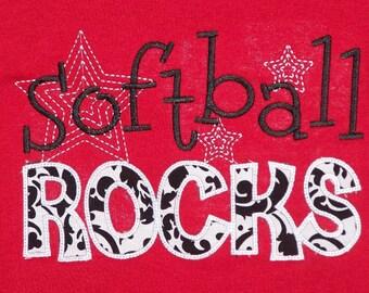 Softball Rocks Spirit Shirt Softball Team shirt
