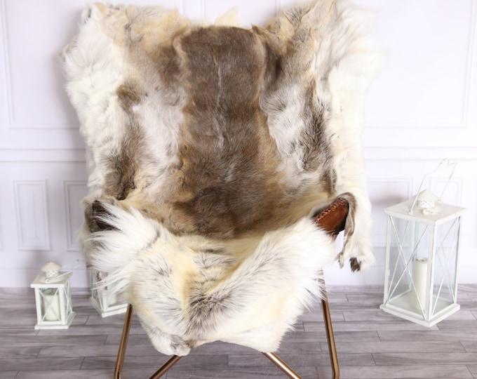 Reindeer Hide   Reindeer Rug   Reindeer Skin   Throw Large  -  Scandinavian Style #BRE4