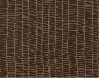 MODA Merrily Weave Chocolate Brown 48215 18 by Gingiber