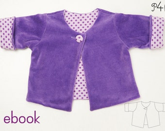Baby jacket pattern, lined coat for children, nice and warm, for girls and boys, easy ebook pdf sewing pattern