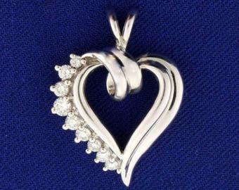 1/3 ct TW Diamond Heart Pendant