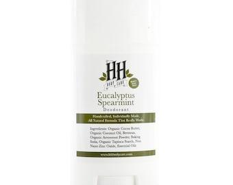 Eucalyptus Spearmint - Natural Deodorant - No Baking Soda - Aluminum Free Deodorant - Stick Deodorant