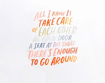 Take Care of Each Other Art Print