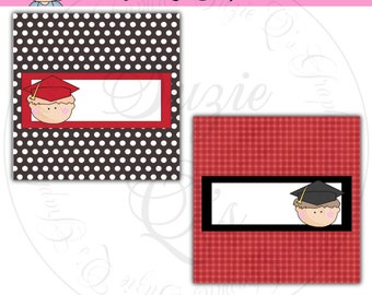 Boy Graduate Candy Bar Wrappers - Digital Printable - Immediate Download