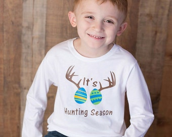 Easter shirts, easter shirts for boys, hunting shirt, easter boys, toddler easter shirt, easter bodysuit, baby boys bodysuit, hunt