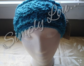 Crochet Cable Ear Warmer - READY TO SHIP