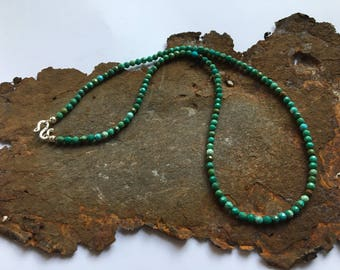 Turquoise necklace with silver elements made of 925 silver