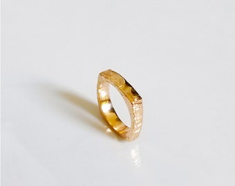 Square Wedding Ring, Kabbalistic jewelry
