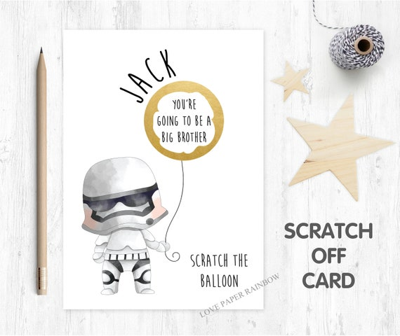 you're going to be a big brother scratch card big brother card big brother reveal baby reveal scratch card pregnancy reveal scratch card