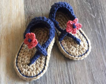 Summertime Flower Sandals