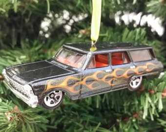 Miniature 1964 Chevy Nova Station Wagon Mothers Day, Fathers Day, Birthday Ornament 1:64 Free Shipping Happy Holidays!!