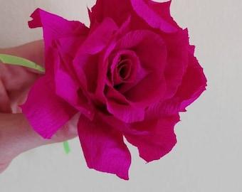 ROSE - rose - roses - crepe paper roses - rose made in crepe paper