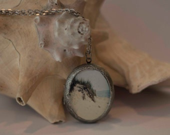Photography Lockets, Sand Dune, Cape Cod Photos, Ocean and Dunes, Oval Lockets, 40 mm x 30 mm