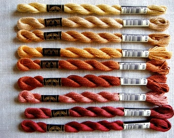 DMC Pearl Cotton Size 3 Threads (Reds Group)