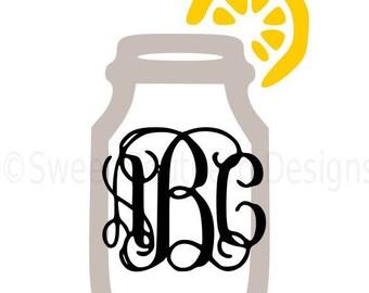 Mason Jar With Lemon Door Hanger